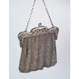 A Hand-Braided Silver Evening Bag 19-20th Century