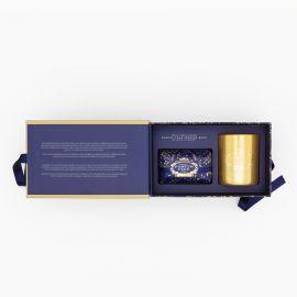 Festive Blue Soap And Candle Set