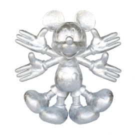Snow Angel Mickey Sculpture - (120cm) Silver Hand Painting